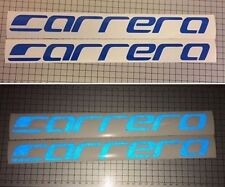 2x BLUE Reflective Reflx Carrera Bike Sticker Decal Mountain bike Logo MTB