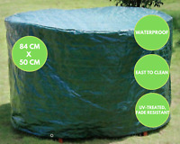 - Slate Grey D92cm x H80cm VonHaus Waterproof Garden Round Firepit Cover The Storm Collection Premium Heavy Duty Breathable Fabric Protection