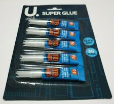 5 PACK SUPER GLUE 3g EACH. TOP QUALITY IDEAL FOR HOME OFFICE OR SCHOOL USE