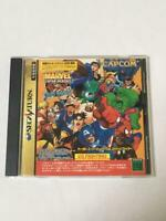 USED Marvel Super Heroes Vs. Street Fighter Sega Saturn W/O RMA1998 Japan CAPCOM