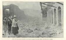 1902 Clergy Blessing The Dead Among The Ruins Of St Pierre, Martinique Disaster