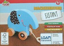 Nachziehtier Elefant  Holz für Motorik Fantasie Koordination  Holz
