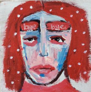 Portrait Painting Outsider Art Bye Bye Katie Jeanne Wood