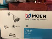 MOEN Adler 2-Handle 1-Spray Tub and Shower Faucet with Valve in Chrome