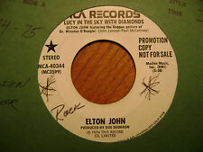 PROMO MCA 45 RECORD/ELTON JOHN/ LUCY IN THE SKY W/ DIAMONDS/ONE DAY AT A TIME/EX