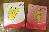 Pokemon 25th Anniversary #1 & #3 McDonald's Happy Meal Toy Lot Brand New 2021