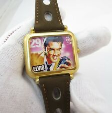 ELVIS, Stamp Watch, Square Dial, Retro Rally Racing Band, UNISEX WATCH,0450,L@@K