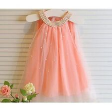 New Sleeveless Baby Girl Dress Toddler Birthday Party Kids Wedding Clothes