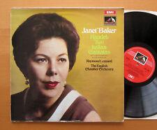 ASD 2468 Janet Baker Handel dos italiano Cantatas Raymond Leppard casi como nuevo/en muy buena condición