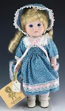 "Vintage Kingstate Juily Porcelain Girl Doll 10.5"" w/Tags & Stand"