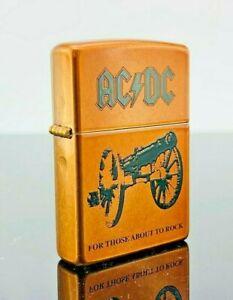 Zippo Feuerzeug ACDC For Those About to Rock Band Print Sturm / Sturmfeuerz.