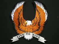 Eagle Live to Ride XL Aigle  ecusson brodé patche Thermocollant  iron-o patch