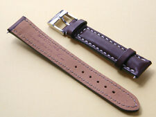 Breitling Brown w/ White Stitching Calf Leather 16 / 14 mm Strap w/ Tang Buckle