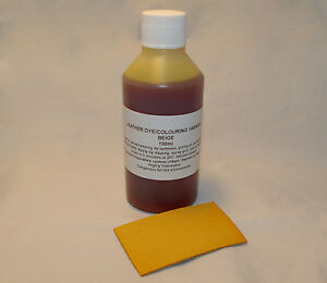 Leather dye/colourant in BEIGE - 100ml for sofas, shoes, bags, car seats etc.