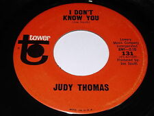 Judy Thomas: I Don't Know You / A Little Bit Of Happiness 45 - Tower