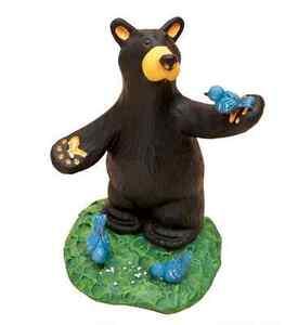 "Big Sky Carvers & Demdaco Bearfoots ""Lil Bird Told Me"" Mini Figurine # B5080014"