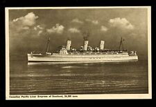 Shipping Canada Pacific Liner Empress of Scotland early PPC