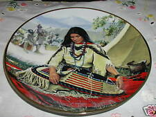 Sacajawea By David Wright Plate Noble American Indian Women