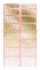 NAIL ART STICKER  DECAL DESIGN FOR NAILS 16 WRAPS COLOUR GOLD STAR