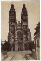 Tours La Cattedrale Foto Neurdein Vintage Albumina Ca 1880