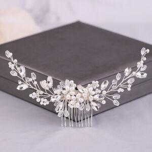 Silver Bridal Headwear Shiny Crystal Hair Comb Elegant Wedding Hair Accessories