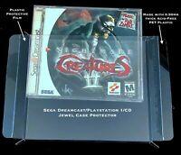 20 Pack - 0.50mm Jewel Case Protectors SEGA DREAMCAST/PS1/CD Single Disc Games