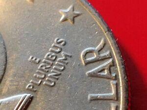 Rare ERROR TYPE DDR Doubled Die Reverse Legends 1976 US Bicentennial Ike DOLLAR
