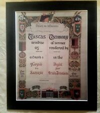 IRISH WAR OF INDEPENDENCE CERTIFICATE  PHOTOGRAPH  PICTURE 1916-1921  A4