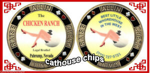 CHICKEN RANCH Legal Pahrup Nevada Brothel Brass Metal Cathouse WhoreHouse TOKEN