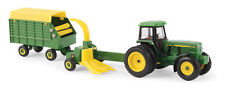 John Deere 4960 Tractor w/ Forage Harvester & Wagon 1:64 Scale ERTL New