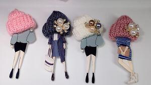 Kawaii Pin Brooch pin wool Hat Badges Girl Fashion Acrylic Jewelry Accessories