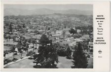 1940s RPPC Santa Barbara Birds-Eye-View Frashers Foto Card