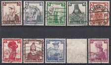 Gestempelte Briefmarken aus dem deutschen Reich (1933-1945) als Satz