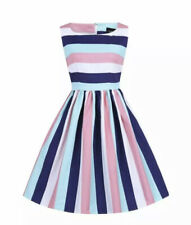 Bnwt Collectif Mainline Candice Seaside Stripes 50s Vintage Style Dress Size 14