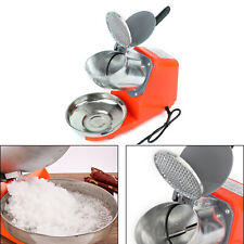 300w Electric Ice Crusher Machine Shaver Shaved Ice Snow Cone Maker 143 Lbs Qf