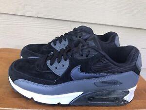 Nike Air Max 90 Women's Black Metallic Hematite 768887-001 Sneakers Size 8.5