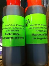 Rabbit and or Raccoon Urine   Trap Traps Trapping urine squirt top