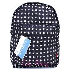 """Black White Stars Shcool Backpack School Bag 16"""" Everest All Over Print Book Bag"""