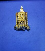 22k Gold Pendant  with Color Stones