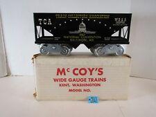 McCOY'S WIDE/STANDARD GAUGE 1967 TCA NATL. CONVENTION BLACK HOPPER CAR O.B.