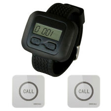 SINGCALL Wireless Service Calling Pager System 1 Watch with 2 Touchable Pagers