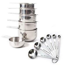 Rorence 18/8 stainless steel nesting measuring cups and spoons set of 12 for...