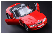 Red 1:28 Scale BMW Z3 Diecast Model Car 1/28 Doors Open Rare for Collection
