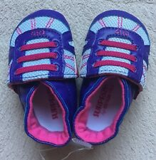 Surprize by Stride Rite Baby Shoes, Sz 0 - 6 Months, Purple & White Sneakers NEW