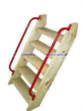 LADDER KIT 900mm PLATFORM + HANDLES Cubby House Fort Stair Kit Climbing Stairs