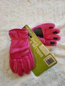 Girls/boys HEAD Ski & Snowboard Thermal Fleece Gloves Size L Pink.   CB6