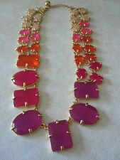 NWOT Kate Spade Fabulous Kaleidoscope Statement/ Collar Necklace- Pinks, Purple,