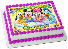 MICKEY & MINNIE MOUSE REAL EDIBLE ICING CAKE TOPPER PARTY IMAGE FROSTING SHEET