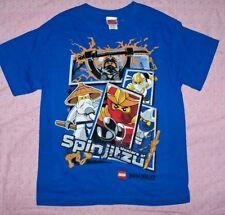 New~Boys Sz.14  Lego Ninjago Masters of Spinjitzu ss Shirt~Blue