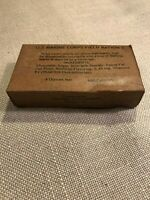 "WWII US Army Marine Corps ""D"" bar ration box"